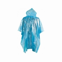 Plastic emergency poncho